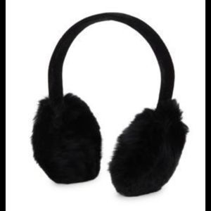 Nwt Surell Black Faux Mink and velvet earmuffs